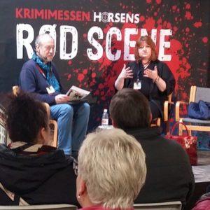 Gittemie Eriksen og Ole Clifford på Rød scene på Krimimessen