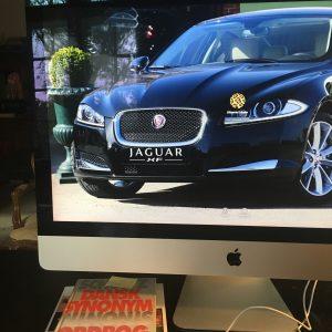 Jaguar XF på iMac skærmbillede